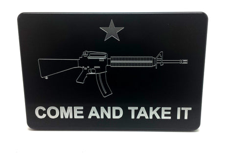 Trailer Hitch Cover COME AND TAKE IT UPDATED