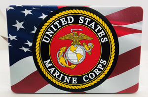 American Flag Color Waving /Marine Corp