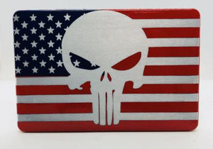 American flag with punisher Red/Blue