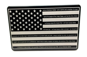 American Flag With The Soldiers Creed