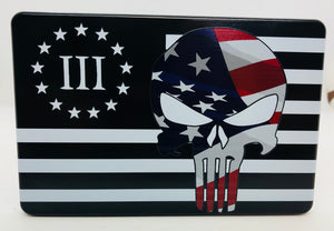 3% Punisher with American Flag