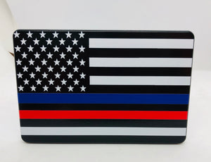 American Flag First Responder blue and red line  full color UV