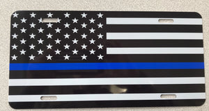 American Flag Subdued Thin Blue Line