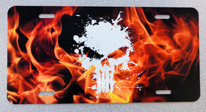 Punisher Skull with Flames