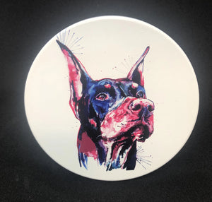 Water color design Doberman