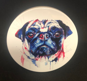 Water color design Pug