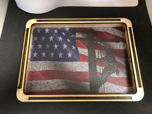 EDC Pocket Dump Tray American Flag Lineman