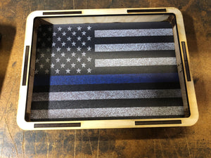 EDC Pocket Dump Tray American Flag Thin Blue Line