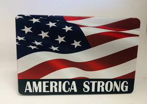 American Flag Color Waving AMERICA STRONG $5.00 Donated to the Red Cross
