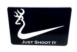 JUST SHOOT IT WITH DEER HEAD