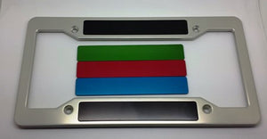 Custom License Plate Frame Automobile Double Badge