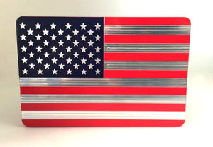 AMERICAN FLAG RED/BLUE MACHINE ENGRAVED