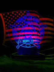 ThinBlueLine With American Flag