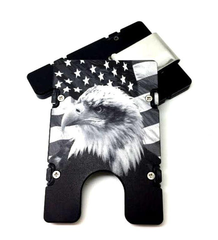 Eagle with American Flag BilletVault EDC Wallet