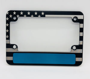 American Flag Thin Blue Line Motorcycle Frame
