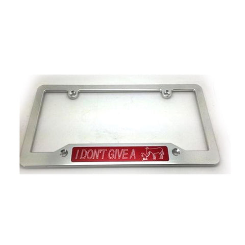 I dont give a rats ass Plate Frame