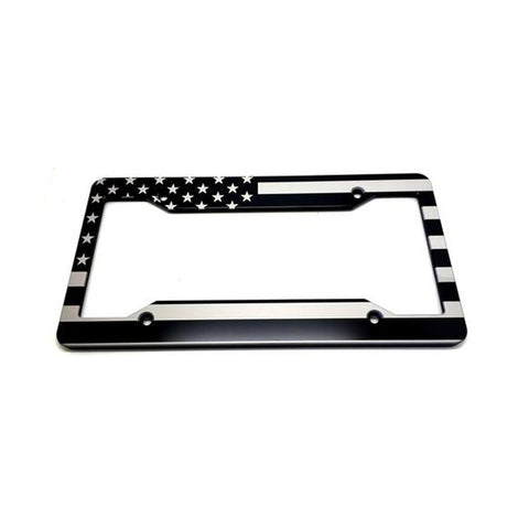 Standard License Plate Frames Slim Line Silver. Hmcbillet $30.00 · American  Flag Double No Badge