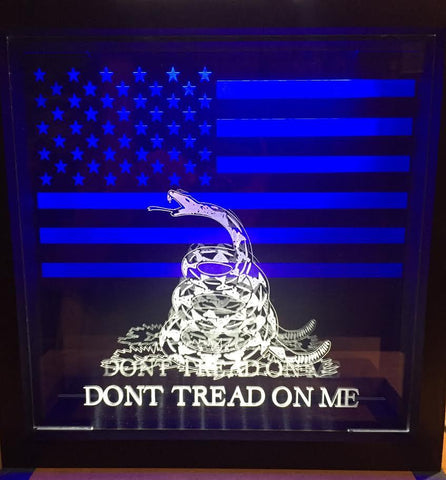 Shadow Box DTOM with American Flag