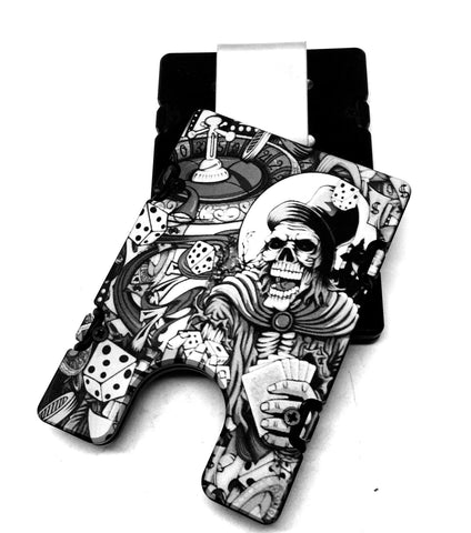Skull Gambling BilletVault EDC Wallet