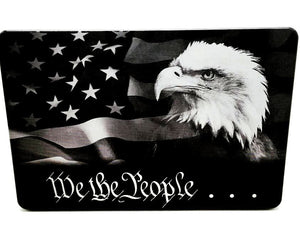 We The People with American Flag and Eagle