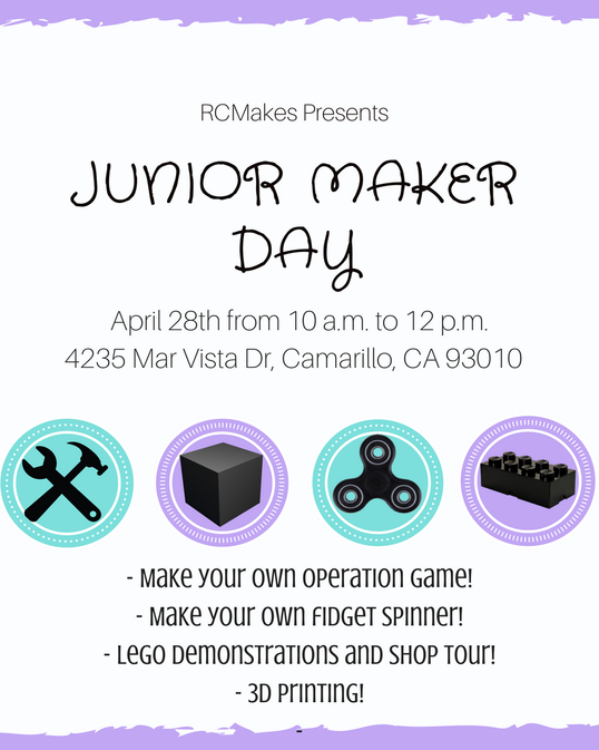 RCMakes Junior Maker Day Flyer