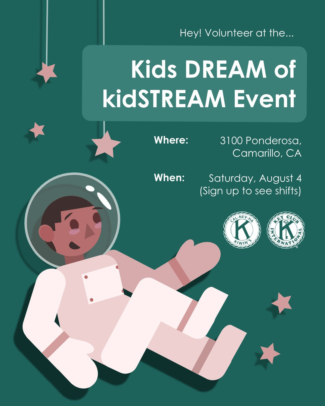 Kids dream of the kidstream Event Flyer