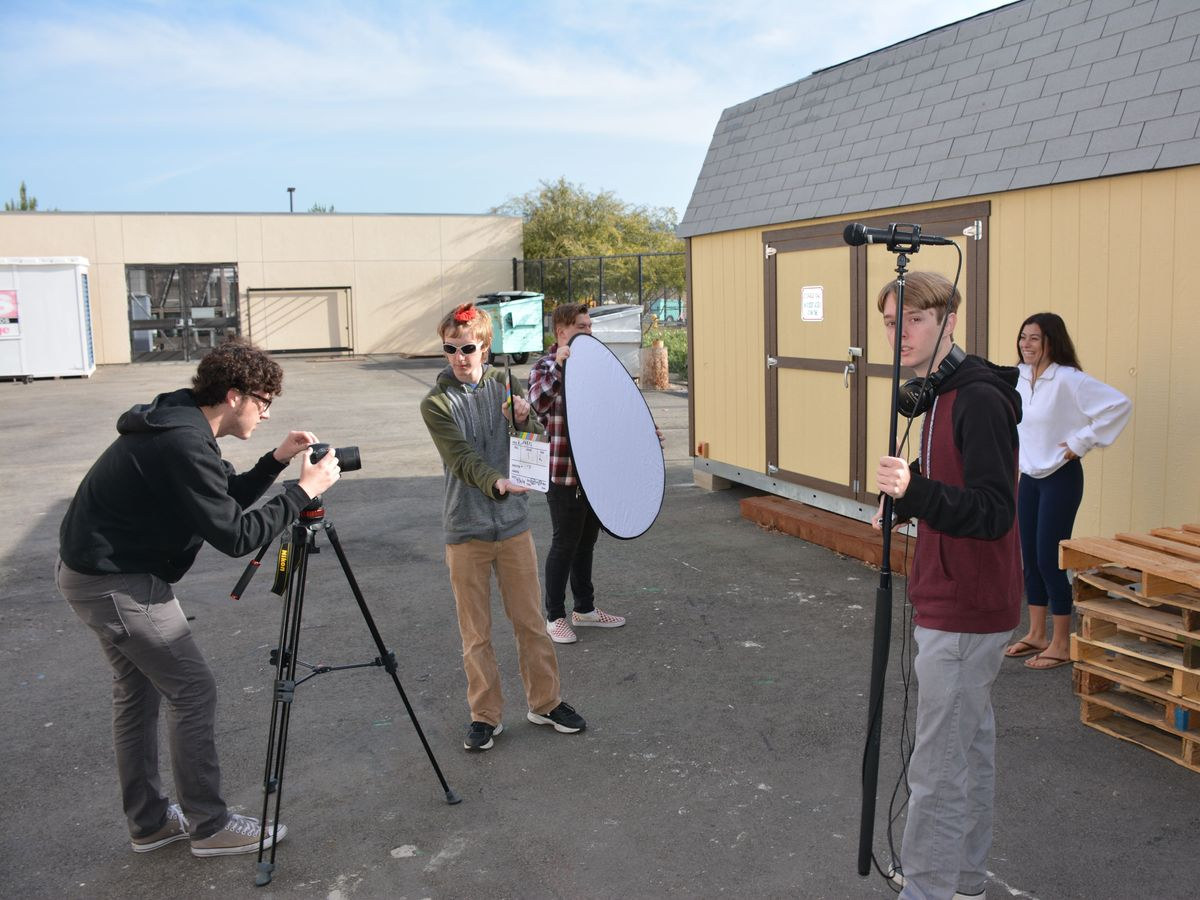 RCMakes Video Production Team on the set