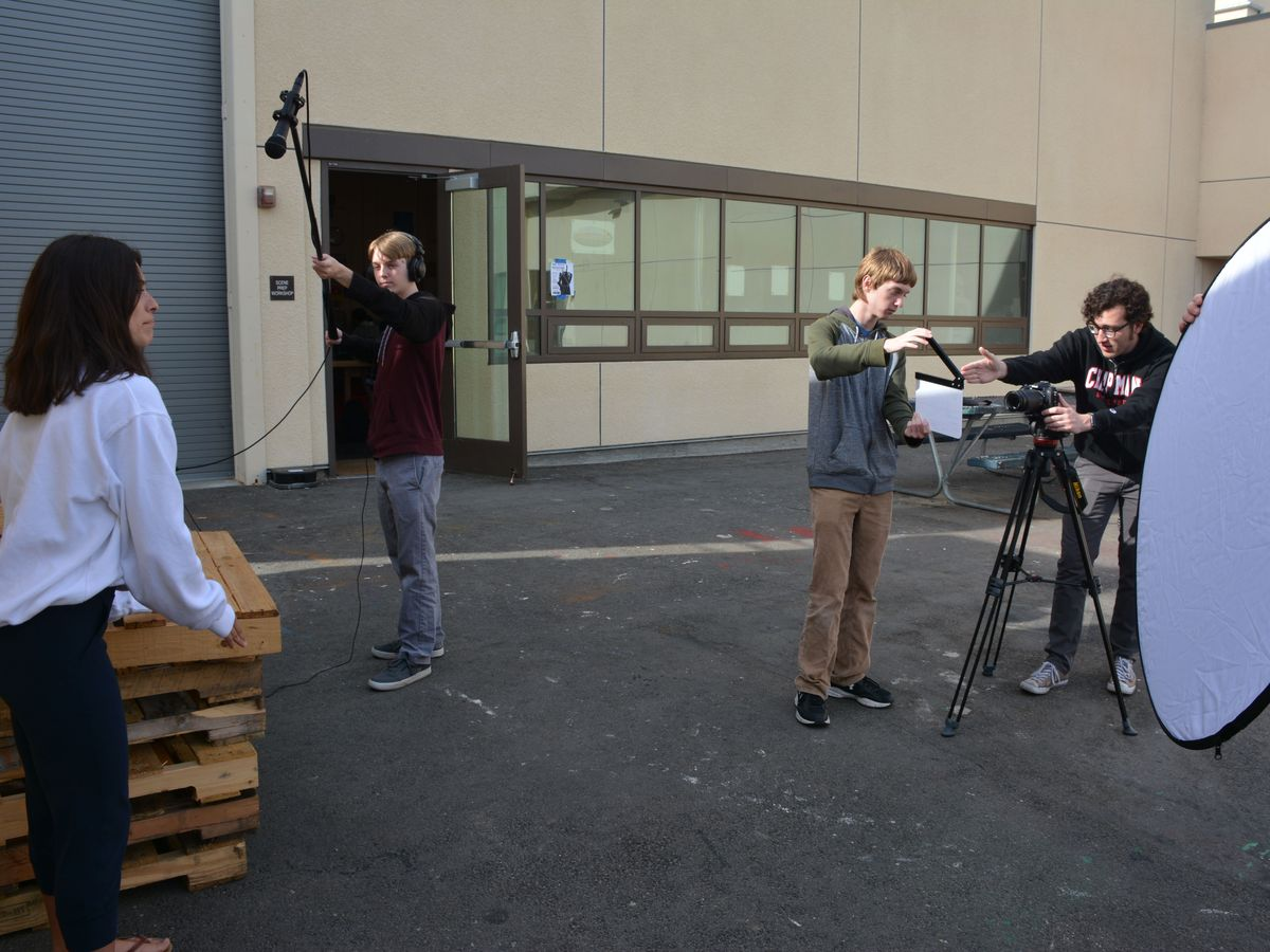 RCMakes Video Team filming on set