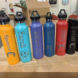 Water Bottle Engraving (you supply the bottle)