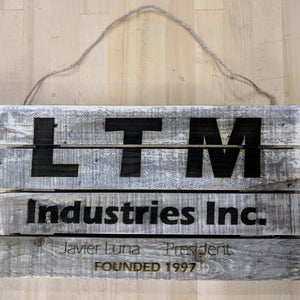 Custom Reclaimed Wood Sign