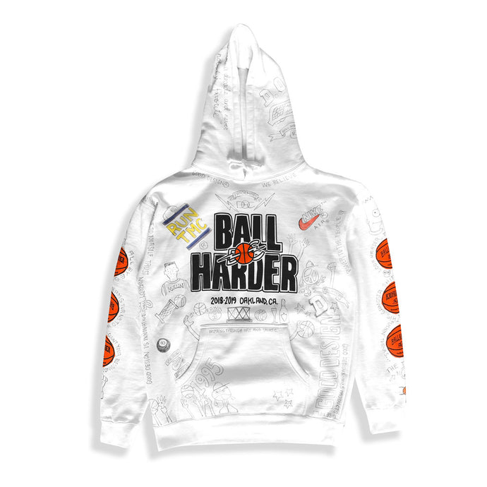 HAND PAINTED BALL HARDER HOODIE