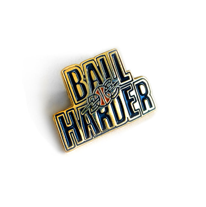 Ball Harder Lapel Pin
