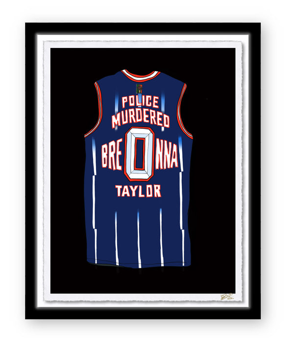 JUSTICE FOR BREONNA TAYLOR JERSEY PRINT