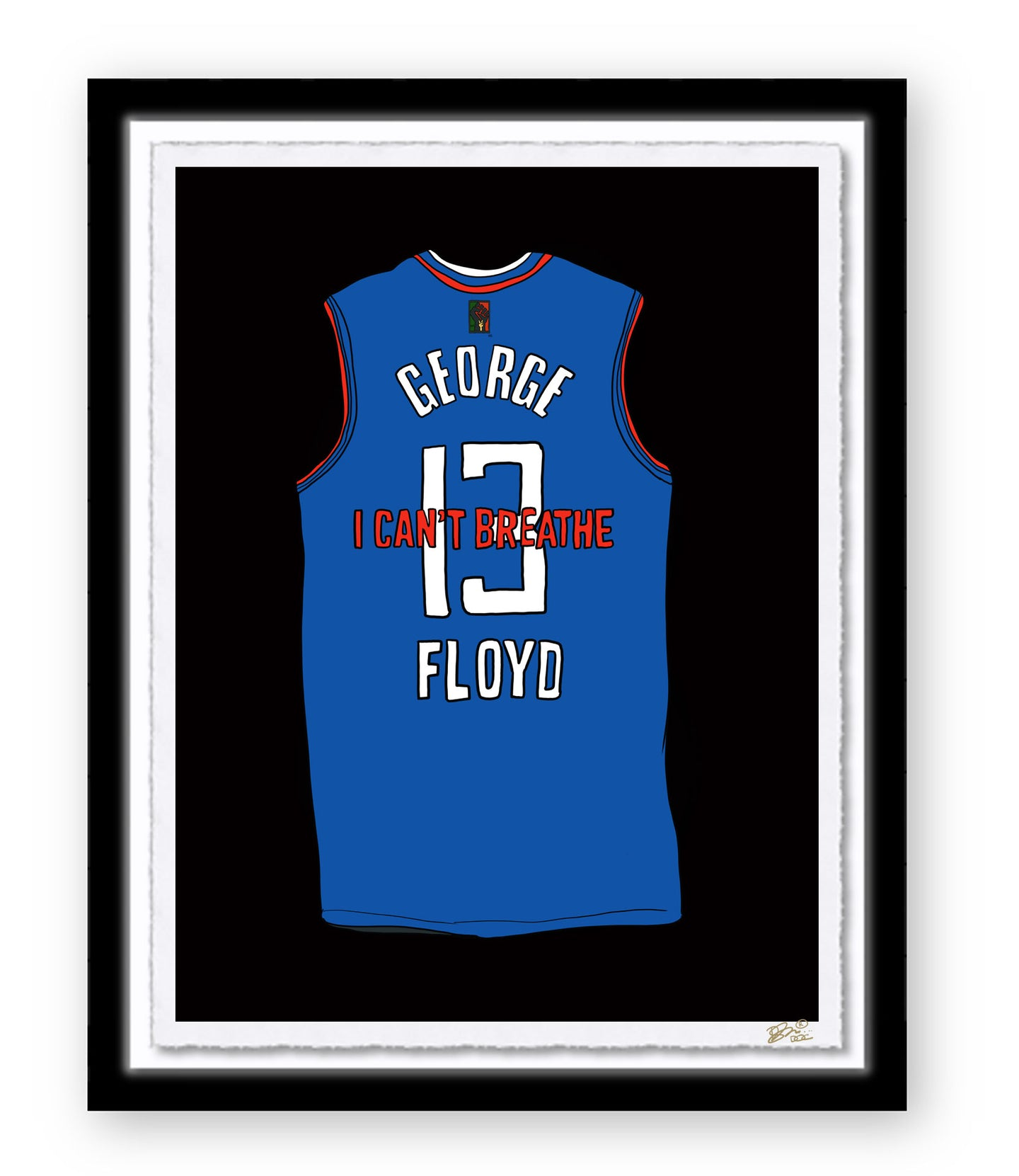 JUSTICE FOR GEORGE FLOYD JERSEY PRINT