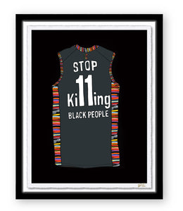 STOP KILLING BLACK PEOPLE JERSEY PRINT