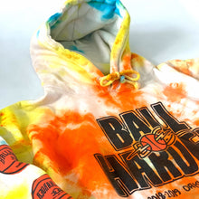 Load image into Gallery viewer, TIE DYED BALL HARDER HOODIE (LARGE)