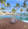 Stella cushion cut diamond engagement ring in 18ct white gold by Stefano Canturi
