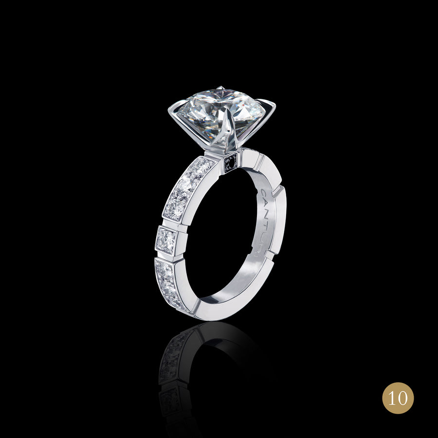 Regina diamond engagement ring in 18ct white gold by Stefano Canturi