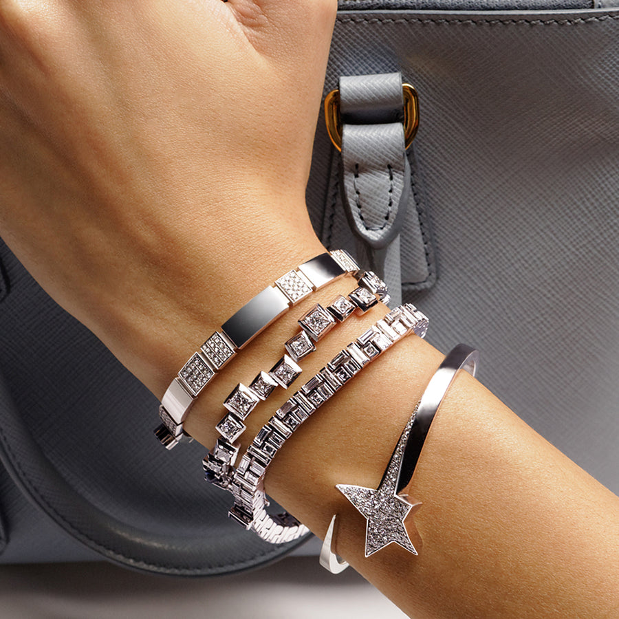 18ct white gold diamond bracelets and bangles by Stefano Canturi