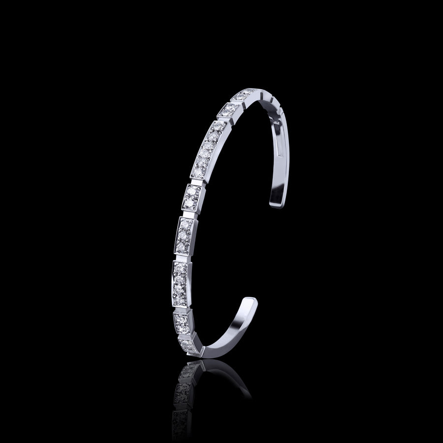 Eternal Mini full diamond bangle in 18ct white gold by Stefano Canturi