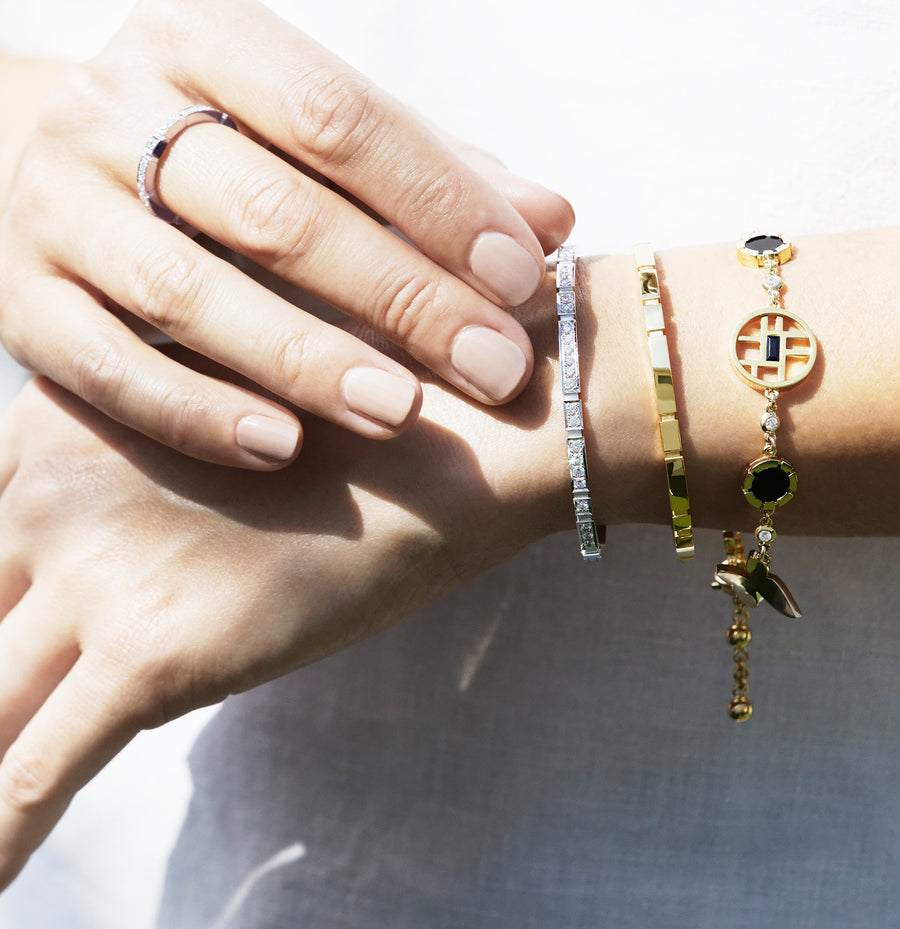 Eternal Mini bangles and Canturi Signature bracelet by Stefano Canturi