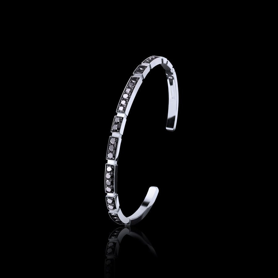 Eternal Mini black diamond bangle in 18ct white gold by Stefano Canturi