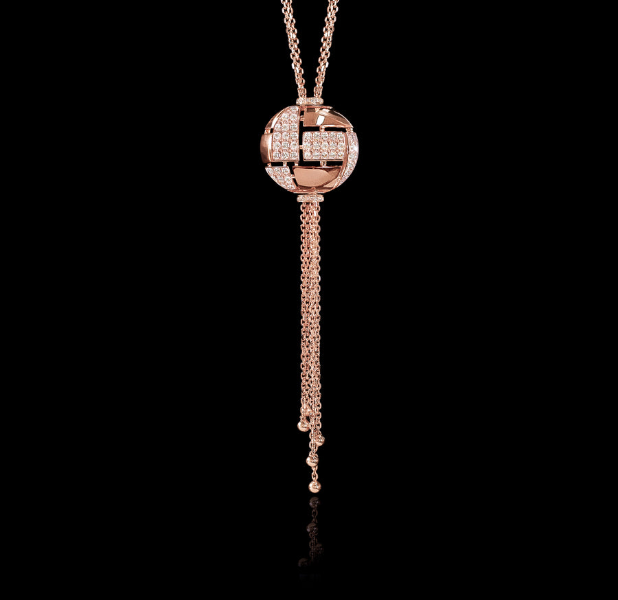 Cubism Globe diamond neckpiece in 18ct pink gold by Stefano Canturi