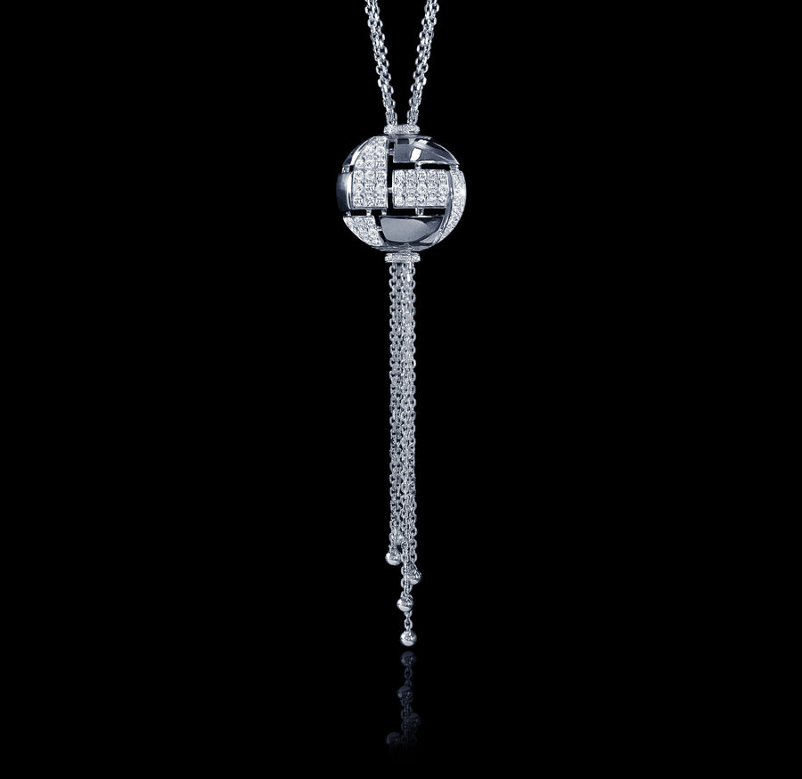 Cubism Globe diamond neckpiece in 18ct white gold by Stefano Canturi