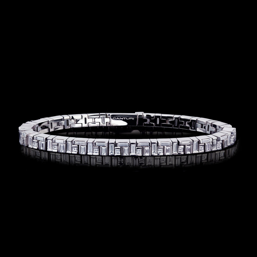 Cubism diamond bracelet set in 18ct white gold by Stefano Canturi