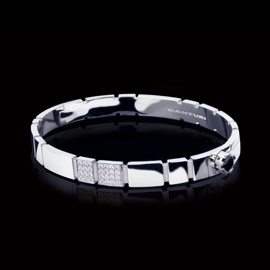 Eternal 1/4 set diamond bangle set in 18ct white gold by Stefano Canturi