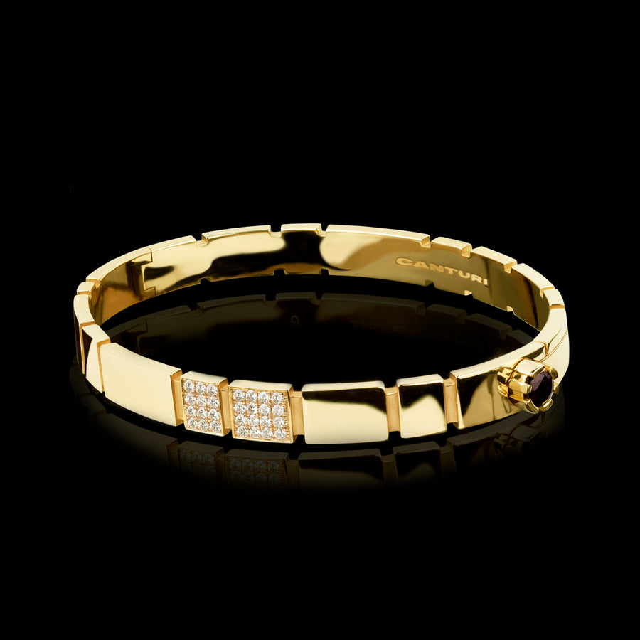 Eternal 1/4 set diamond bangle set in 18ct yellow gold by Stefano Canturi