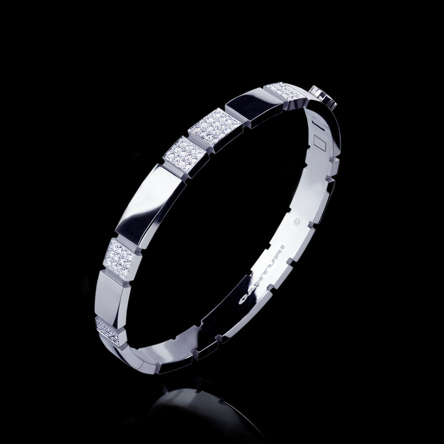 Eternal 6 set diamond bangle set in 18ct white gold by Stefano Canturi