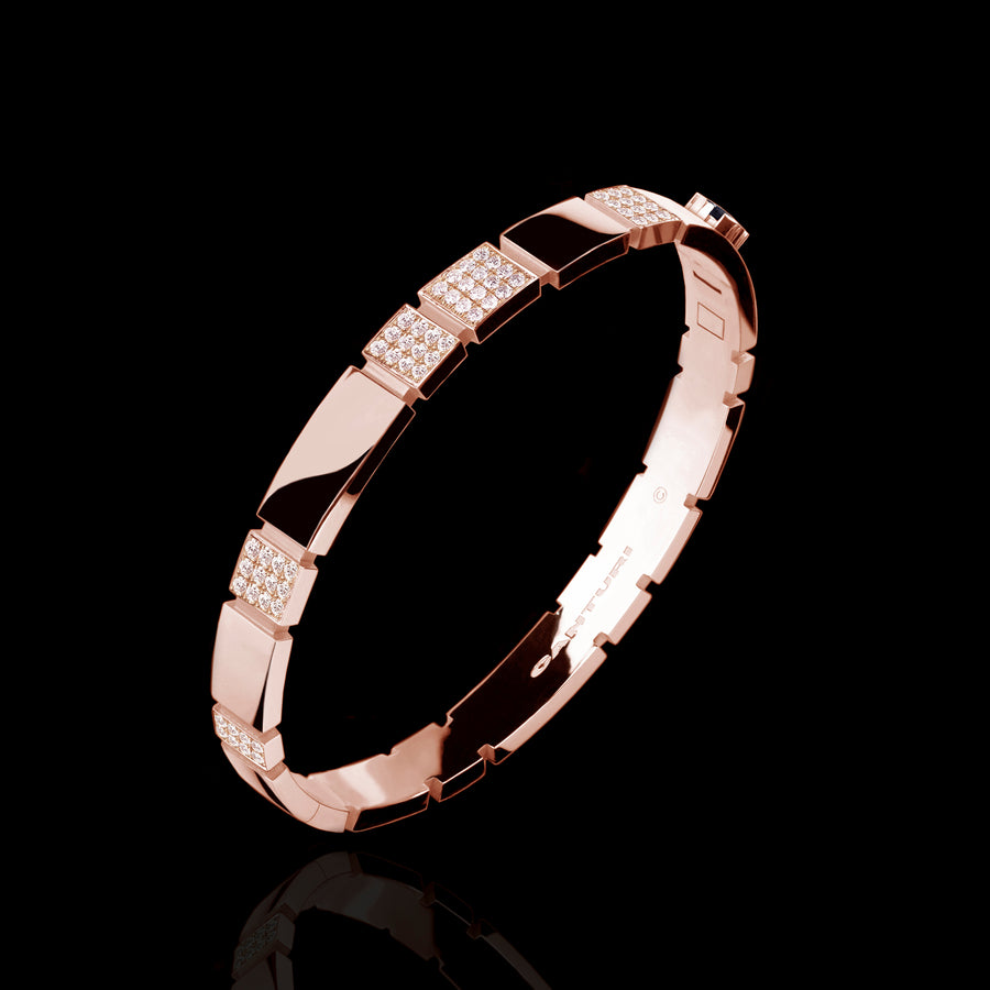 Eternal 6 set diamond bangle set in 18ct pink gold by Stefano Canturi