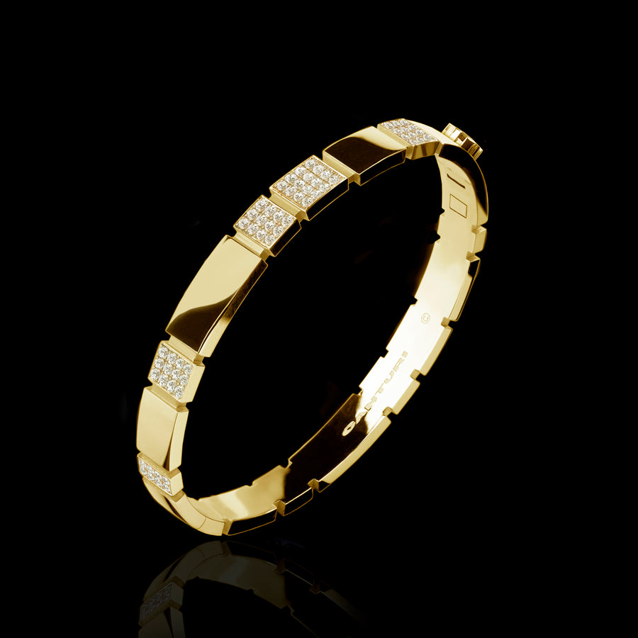Eternal 6 set diamond bangle set in 18ct yellow gold by Stefano Canturi